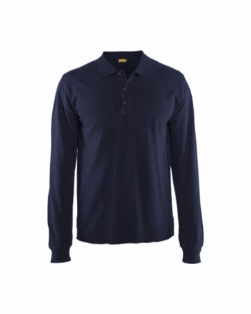 Blaklader 3388 Polo Shirt Long Sleeves (Navy Blue)
